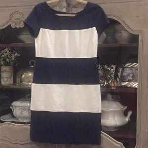 Banana Republic Blue & White Dress